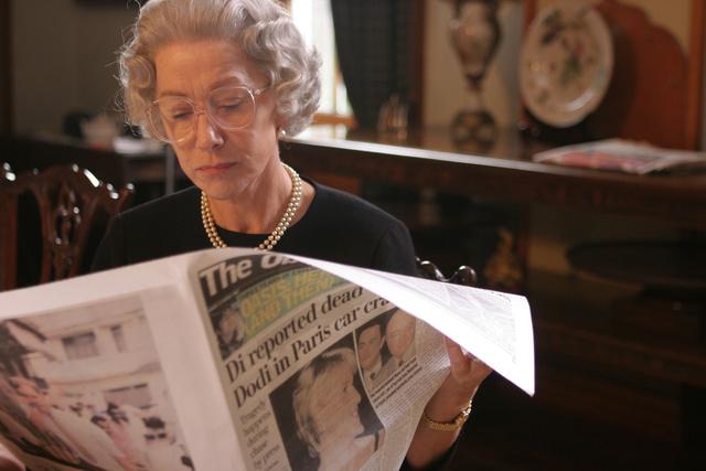 Diana a címlapon - Egy jelenet a Királynő c. filmből