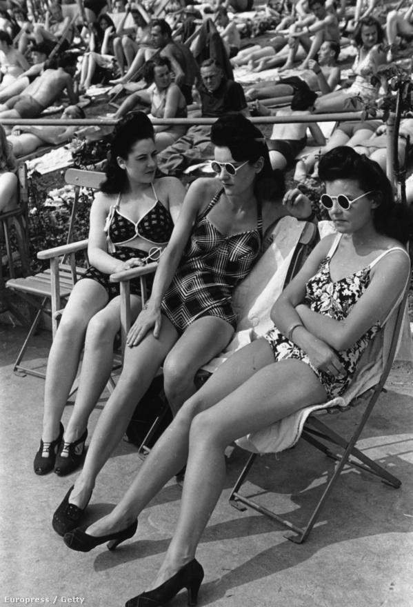 1942. Egy illusztráció a Hogyan nyaraljunk Londonban? c. lapszám vezető anyagából.
