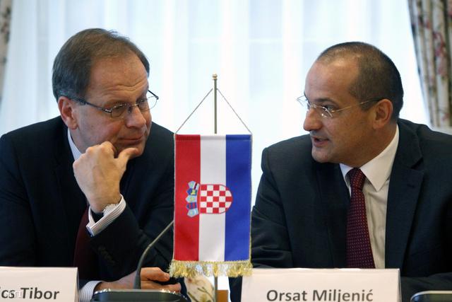Navracsics Tibor és Orsat Miljenic