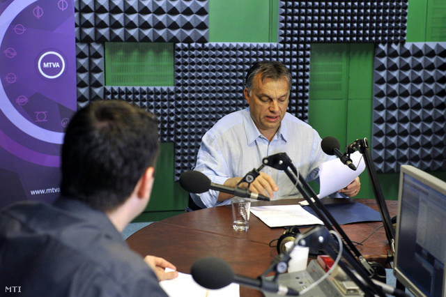 Orbán Viktor miniszterelnöka Kossuth Rádió 180 perc című műsorában
