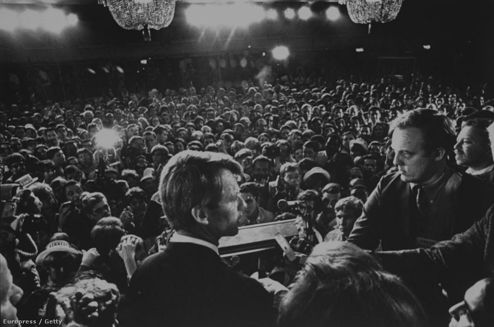 Kennedy utolsó beszéde a merénylet előtt, 1968.