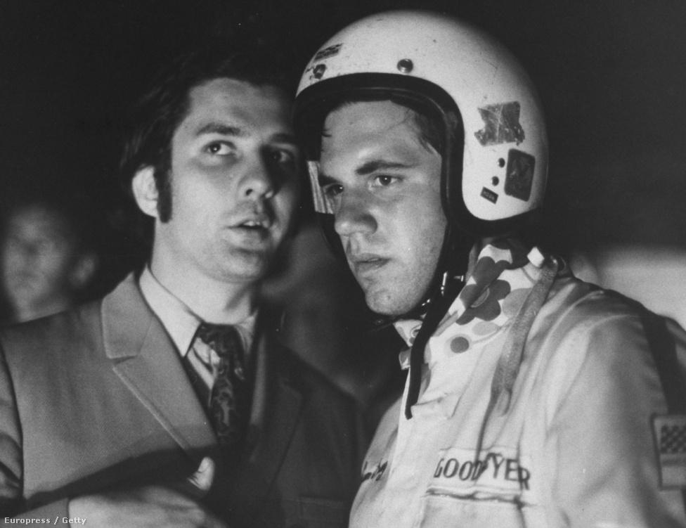 Sam Posey autóversenyző, 1969.