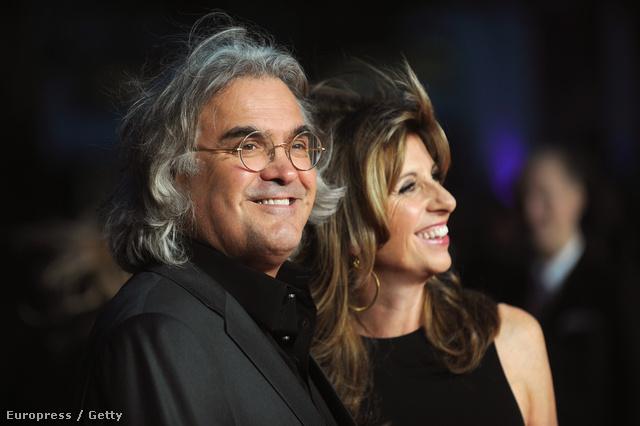 Paul Greengrass és felesége a londoni premieren