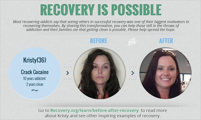 Kristy cracken és kokainon élt tíz évig, de két évvel korábban befejezte.