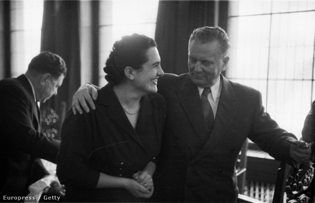 Jovanka Broz és Josip Broz Tito 1953-ban