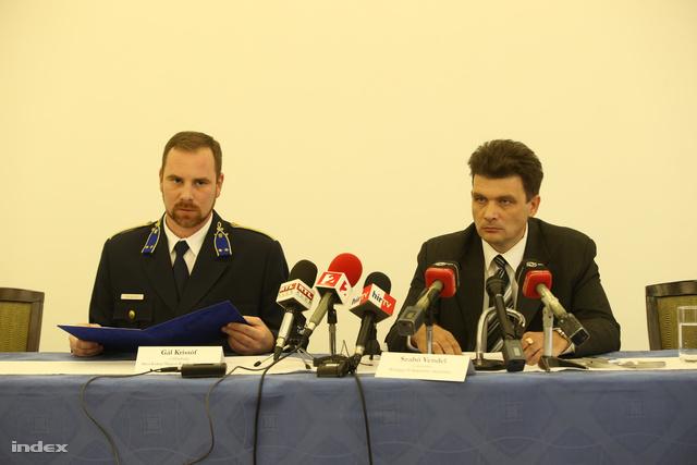 A rendőrség keddi sajtótájékoztatója Kecskeméten