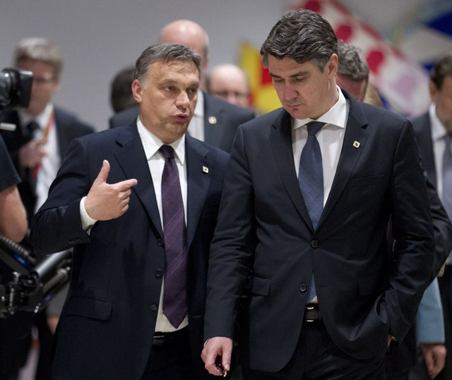 Orbán és Milanovics 2012-ben az Európa Tanácsban