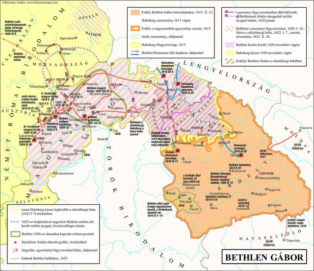 Bereznay András / Erdély történetének atlasza c. munkájának 52. térképe (Méry Ratio Kiadó, 2011.)