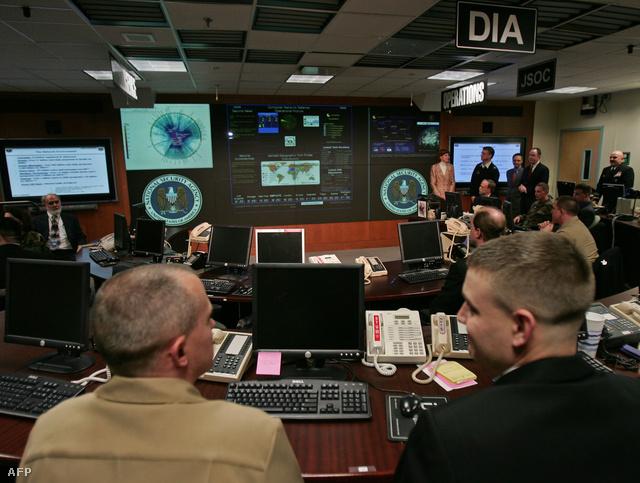Irányítóterem az NSA marylandi központjában