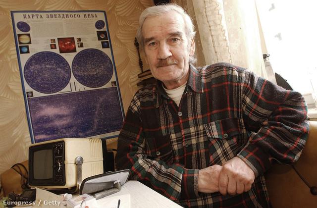 Sztanyiszlav Petrov otthonában, 2004. március 19. Moszkva.