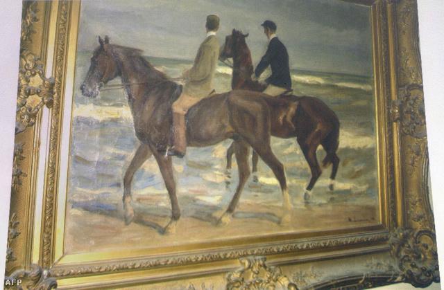 Az egyik megtalált festmény