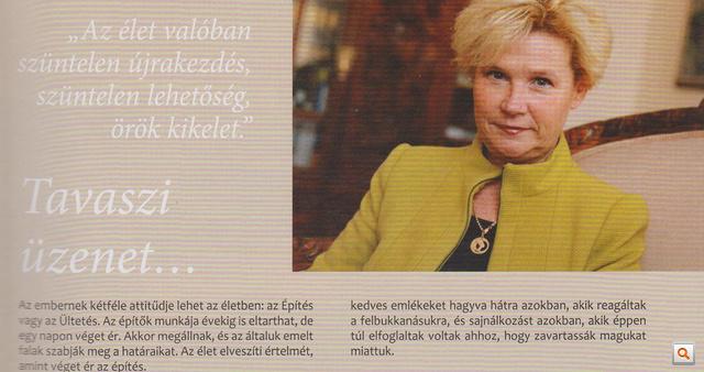 """A """"Tavaszi üzenet"""" című cikk, Polgárné Vida Judit írása a Kisbíróban.                         Nagyobb méretért kattintson!"""