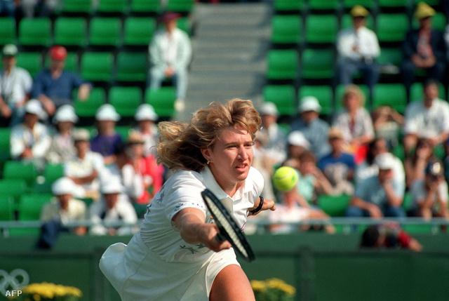 Steffi Graf útban az szöuli arany felé 1988-ban