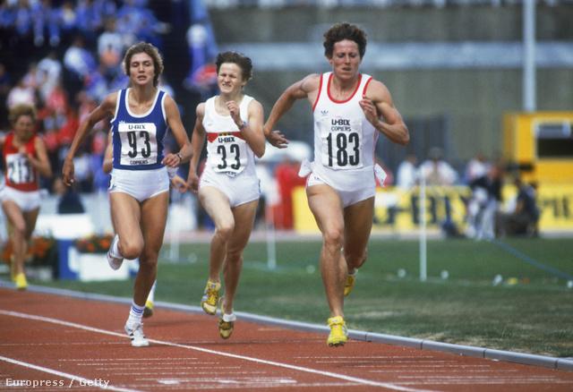 Jarmila Kratochvilova (elől) 1983-ban, az atlétikai Európa Kupa 800 méteres döntőjében