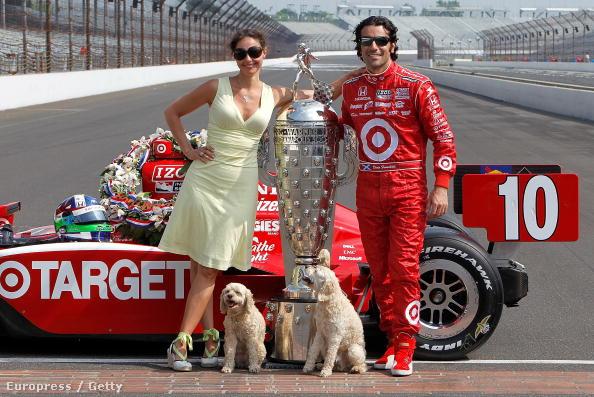Ashley Judd és Dario Franchitti a 3 évvel ezelőtti Indy-győzelem után
