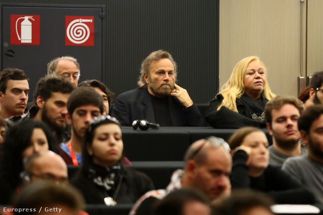 A színészt a Római Filmfesztivál egyik rendezvényén kapták lencse végre.