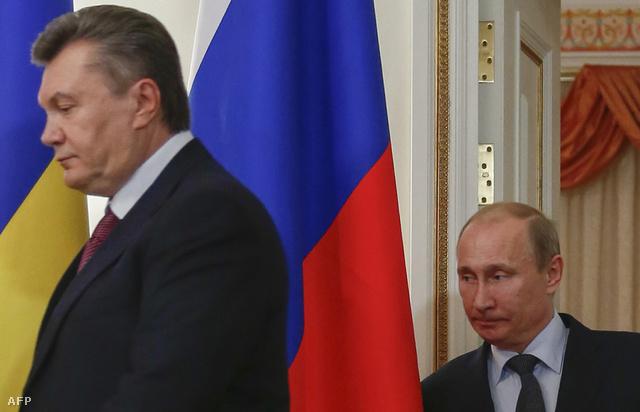 Vlagyimir Putyin és az ukrán elnök egy 2012-es találkozón