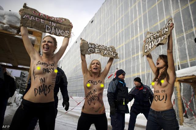 Femen aktivisták tüntetnek Ukrajnában