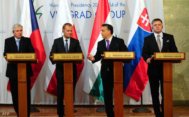 A Visegrádi négyek csúcstalálkozója 2013. októberében