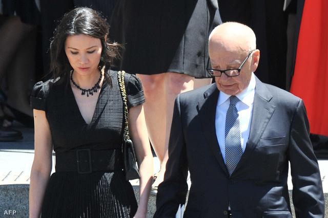 Wendi Deng és Rupert Murdoch