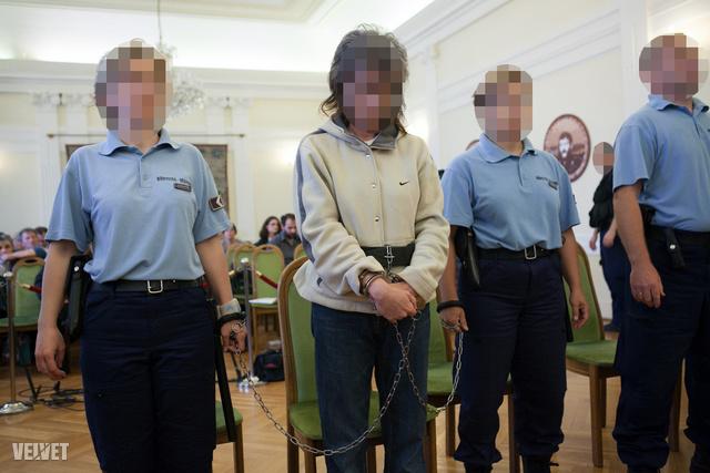 P. Erika, életfogytiglani börtön, első fok.