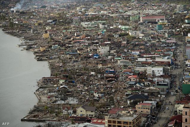 Tacloban romjai a levegőből