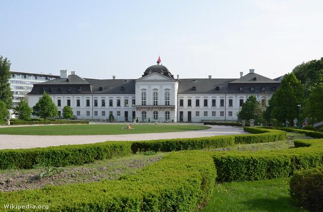 Az Elnöki Palota épülete Pozsonyban.