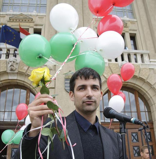 Körösparti Péter, itt még a Hallgatói Önkormányzatok Országos Konferenciájának (HÖOK) alelnöke