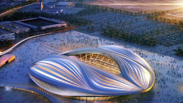 Al Wakrah Stadium Aerial View