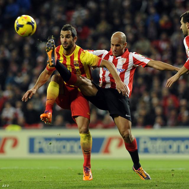 Martin Montoya (Barcelona) és Mikel Rico (Bilbao) harca