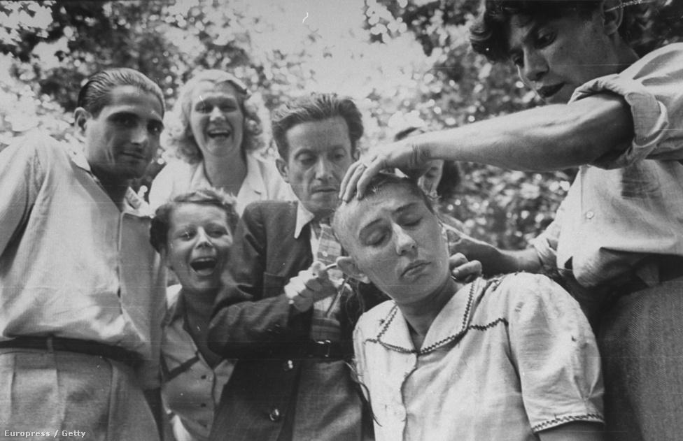 Marseilles 1944-ben szabadult fel a német megszállás alól. A megszállás alatt eltűrték a francia nők és a német férfiak kapcsolatát, de a felszabadulás után az indulatokat ezeken a nőkön vezették le: az utcán leköpték őket és a fejüket kopaszra borotválták.