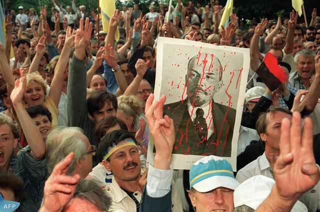 Elszakadáspárti tüntetés Kijevben 1991. októberében