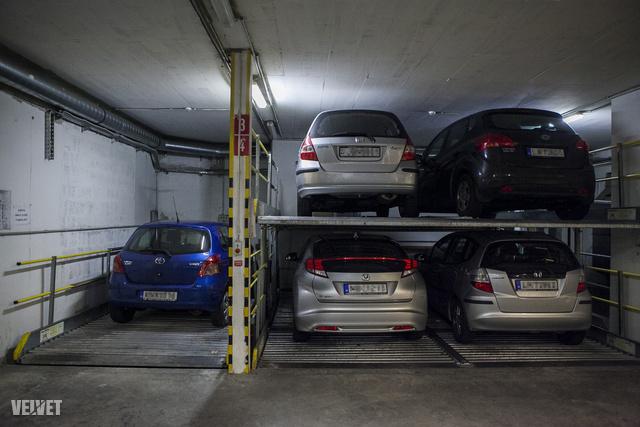 Manapság kétszintű parkolórendszer működik.
