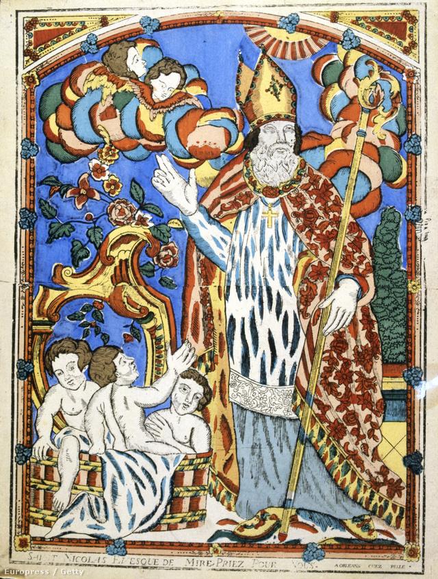 Szent Miklós Myra püspökeként