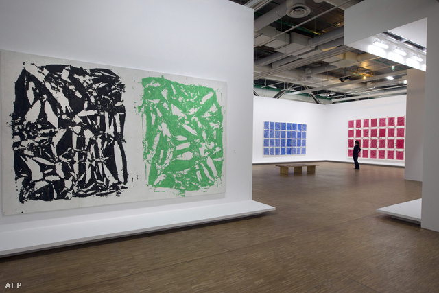 Hantai munkái a párizsi Pompidou központban idén májusban