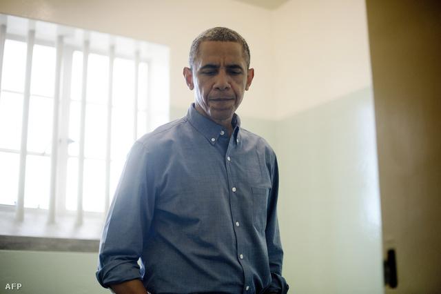 Obama idén júniusban másodjára látogatott Mandela egykori cellájába