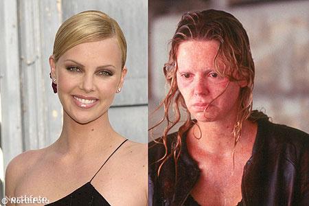 Charlize Theron 13 kilót szedett magára négy hónap alatt  a 2004-es A rém című film miatt, amiben egy sorozatgyilkos prostituáltat játszik.