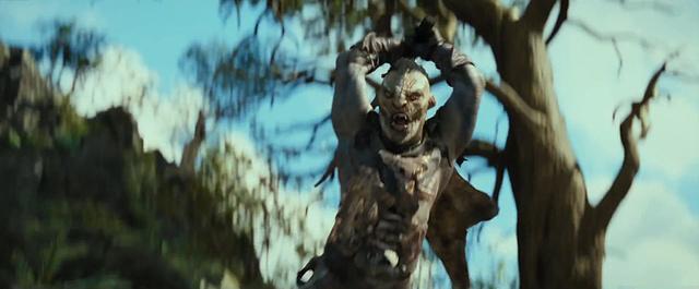 Egy harcias ork a sok közül - Részlet A hobbit: Smaug pusztasága című filmből