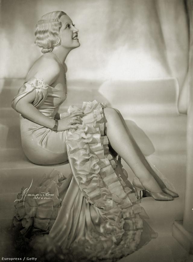 Eggerth Márta énekesnő egy 1930-as években készült fotón.
