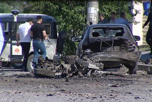 Pokolgépes merénylet helyszíne Mahacskalában 2013 május 20-án