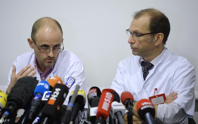 Jean-Francois Payen és Emmanuel Gay a kedden tartott sajtótájékoztatón