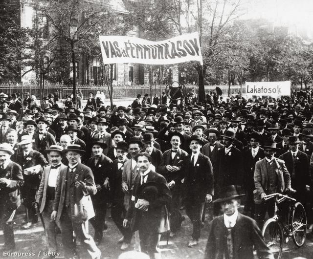 Vas- és fémmunkások demonstrációja, 1914-ben