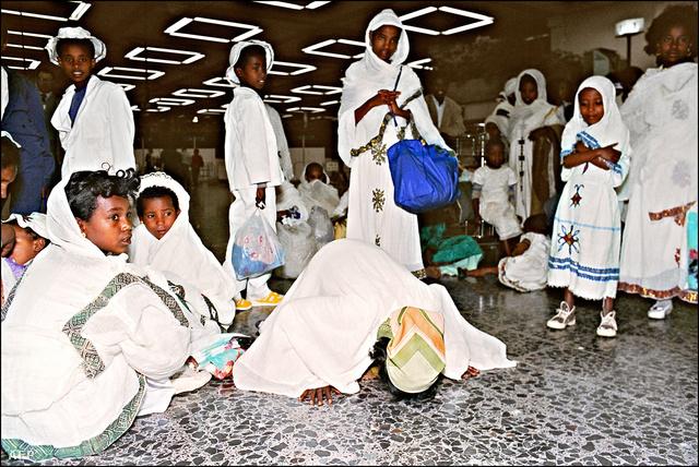 Etióp zsidók a Ben-Gurion Repülőtéren