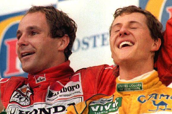 Gerhard Berger és Michael Schumacher 1992-ben