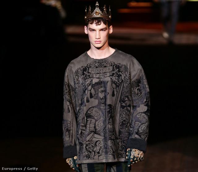 Patinszki Mihály a Dolce & Gabbana-bemutatón