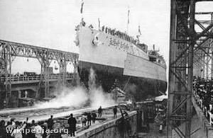 A vízrebocsátása 1914-ben Fiumében