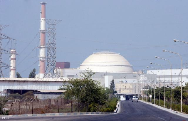 A busehri atomerőmű Irán délnyugati részén. Az erőművet az orosz Roszatom leányvállalata az Atomsztrojekszport építette.