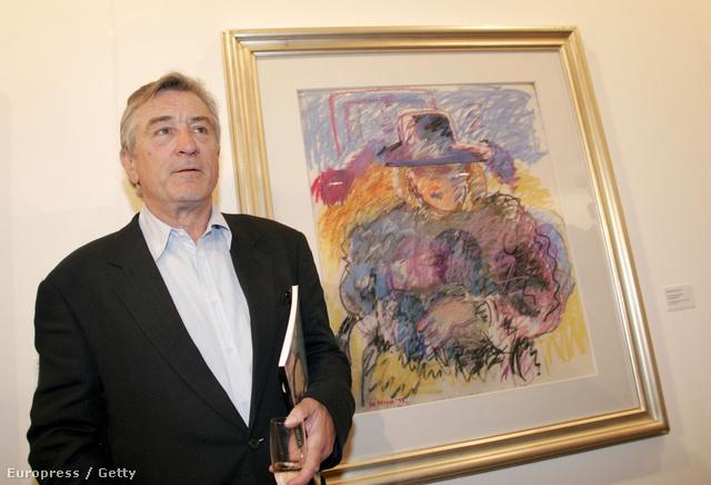 Robert De Niro és édesapja egyik festménye egy portugál kiállításon