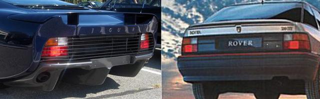Az XJ 220 Jaguar és a Rover 200-as sorozat közös vonásai