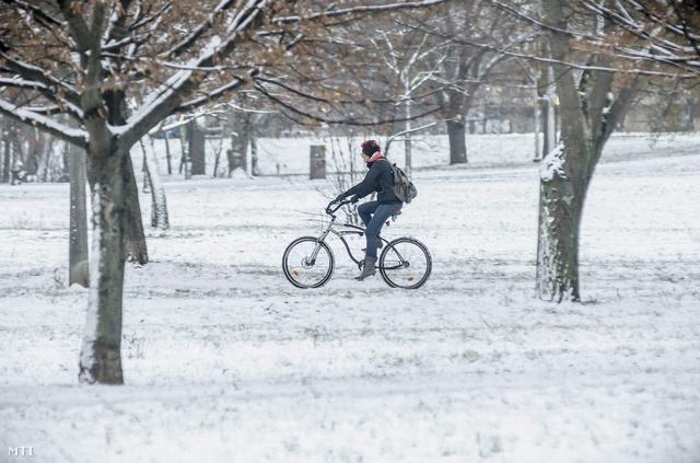 Amúgy nem csak az autókra esett hó.